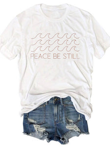 Women's Peace Be Still Wave Print T-Shirt
