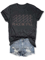 Load image into Gallery viewer, Women's Peace Be Still Wave Print T-Shirt