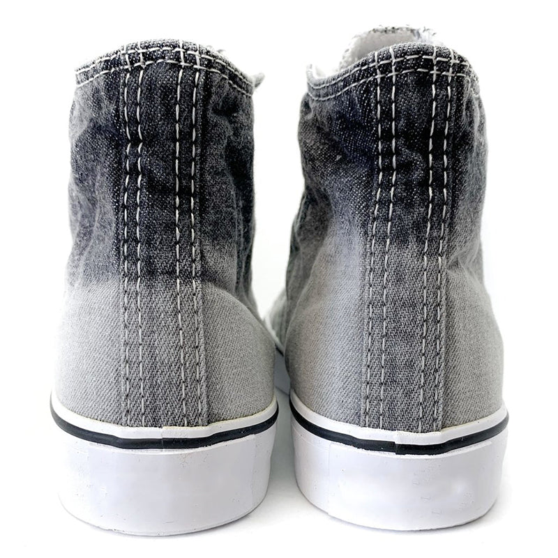 Women's High-Top Canvas Denim Flats