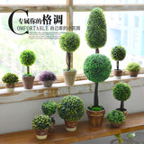 Nordic pastoral style simulation plant fake flower potted indoor living room furnishings home decor