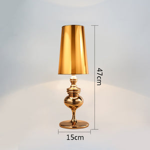 Guard Table Lights Modern Table Lamps For Living Room Bedroom Bedside Reading Lamp Gold Silver Color Tafellamp E27 US EU Plug