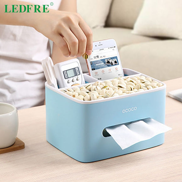 LEDFRE Home Office Multifunctional Remote Control Box Cosmetic Storage Suction Cup Tissue  LF89001