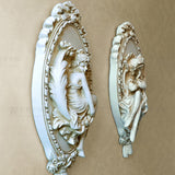 3D Angel Sculpture Home Statue Decoration Accessories Wall Mural Hanging Resin Statues Decor Christmas Decorative Art Ornaments