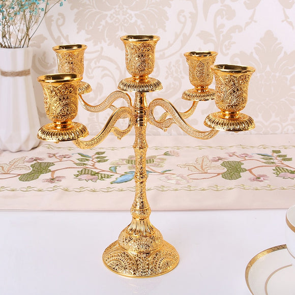 Wedding Wedding 5,5,3 candlestick European candlestick Table Candlelight Dinner Hotel Home Decoration