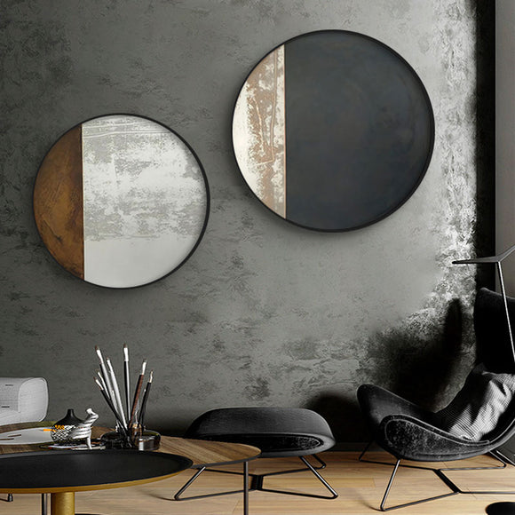 Abstract Dark Colors Combination Canvas Painting Posters and Prints Wall Art Pictures for Living Room Bedroom Round Home Decor