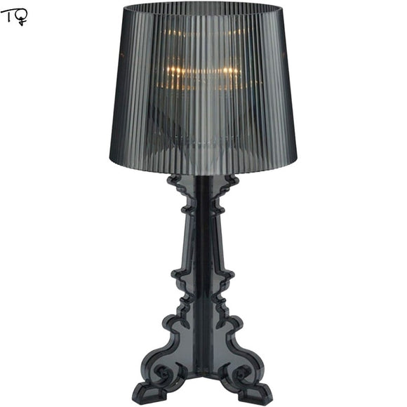 Italy Design Kartell Bourgie Table Lamps Acrylic E14 LED Desk Lights Art Decor Home Studio Living Room Bedroom Bedside Study Bar