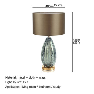 OUFULA Modern Decorative Table Lamp Green Bedside LED Desk Light for Home Bedroom Living Room Office Study Hotel