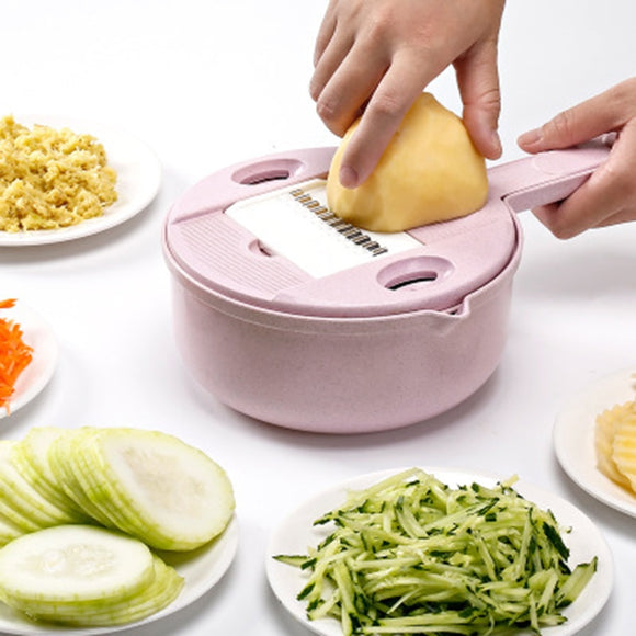 LEDFRE Vegetable Shredder 10 In 1 Multifunctional Simple Food Slicer Dicing Manual Mandolin Cheese Onion Chopping LF89802