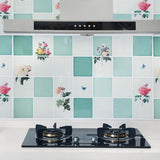 Large Kitchen Oil Proof Sticker Self High Temperature Cartoon Wall Tile Stickers Wallstickers Aluminum Foil Homedecor Supplies