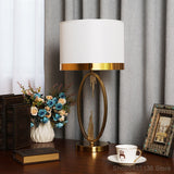 Nordic home decoration table lamp modern E27 standing light bedroom bedside golden wrought iron living room study light fixtures