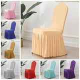 24 Colours Wedding Spandex Chair Cover With Skirt