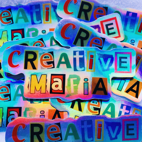 Creative Mafia Holographic Stickers