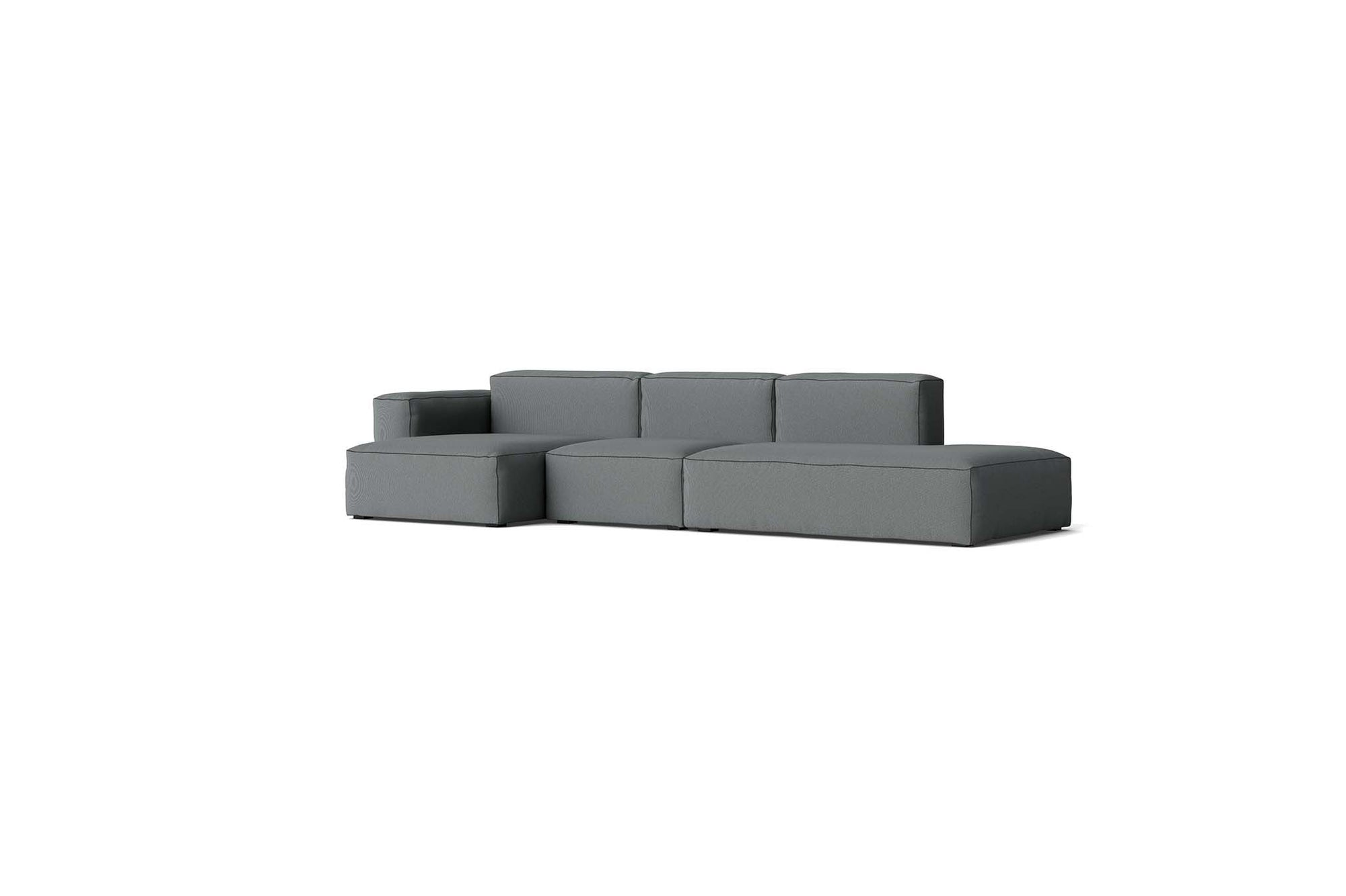 HAY - Mags Soft Low Sofa - 3 Seater - Combination 4 with Left Low Armrest