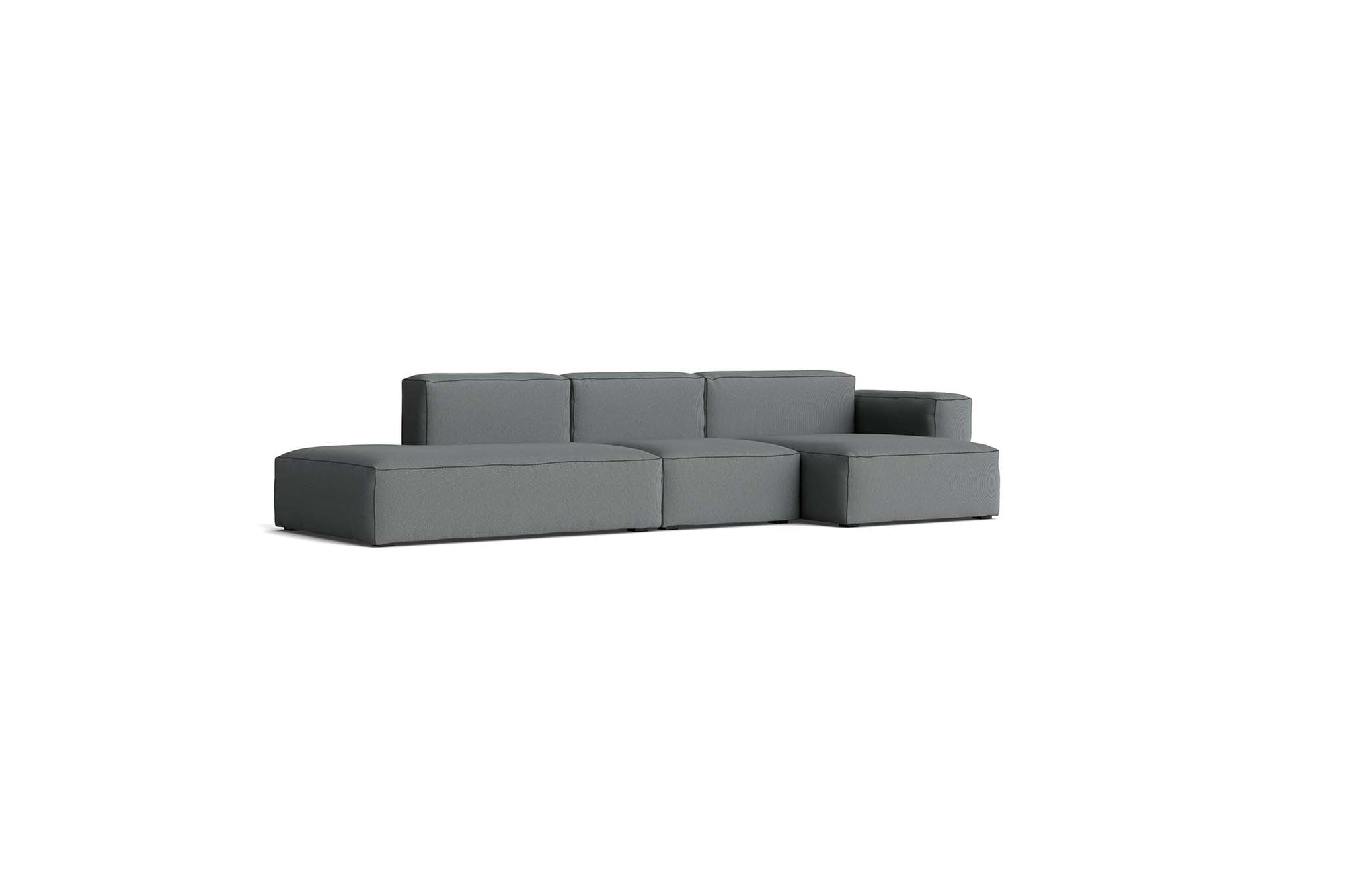 HAY - Mags Soft Low Sofa - 3 Seater - Combination 4 with Right Low Armrest