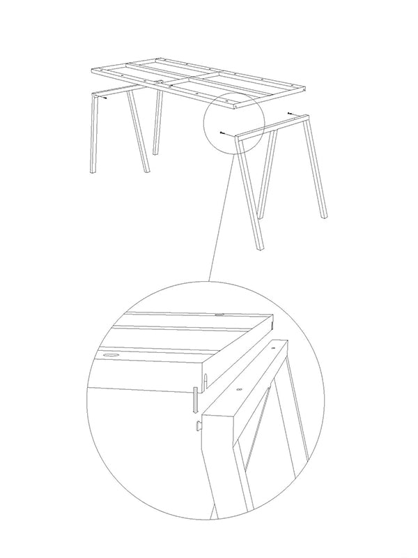 HAY - Loop Stand - Table - Support