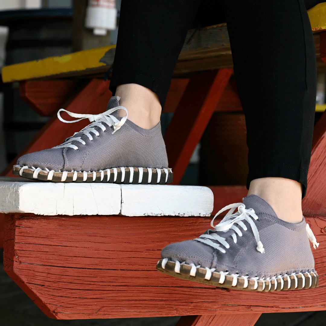 Women's Lace‑Up - Grey