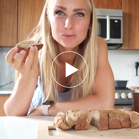 HEALTHY PROTEIN BANANA BREAD RECIPE - LOW CALORIE & HIGH PROTEIN. No sugar added.