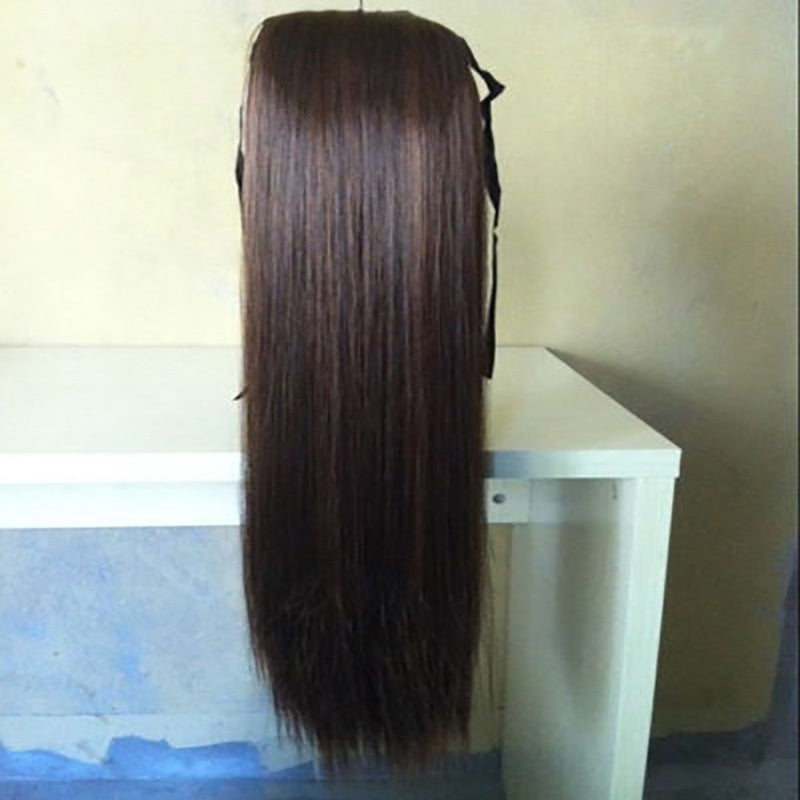 Natural Brazilian Hair Glueless Lace Front Wig Full Lace Wig Virgin Hair With Baby Hair