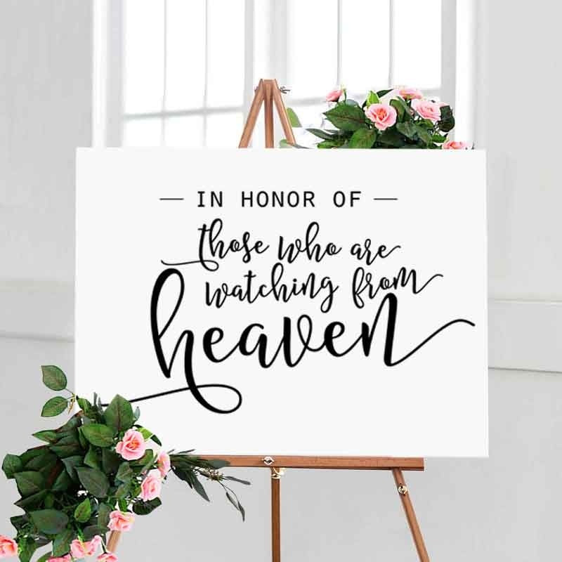 In Honor of Those Who Are Watching From Heaven, Wedding Remembrance Sign, Wedding Memorial Table Sign, Wedding Sign , In Memory Of