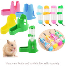 Load image into Gallery viewer, 125ml Toy Squirrel Rabbit Bottom Holder Small Animal Supply Dispenser Guinea Pig Feeder Hamster Auto Drinker Pet Water Bottle