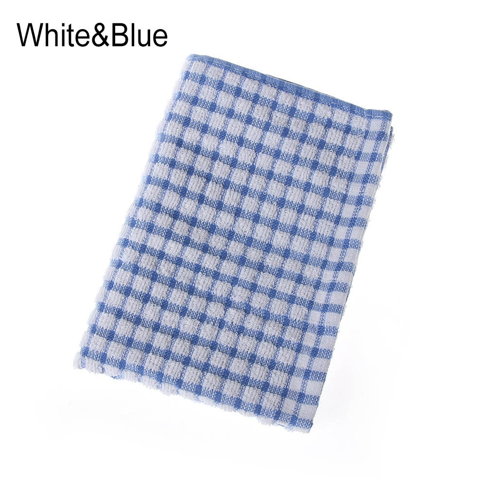 Absorbent Household Cotton Rag Handtowel Tea Towels Washing Dish Cloth Cleaning Cloths