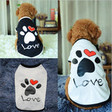 LOVE Letter Footprint Pattern Pet Dog Summer Thin Vest Pet Clothes Clothing Accessories Soft Cute for Outdoor Puppy Decoration