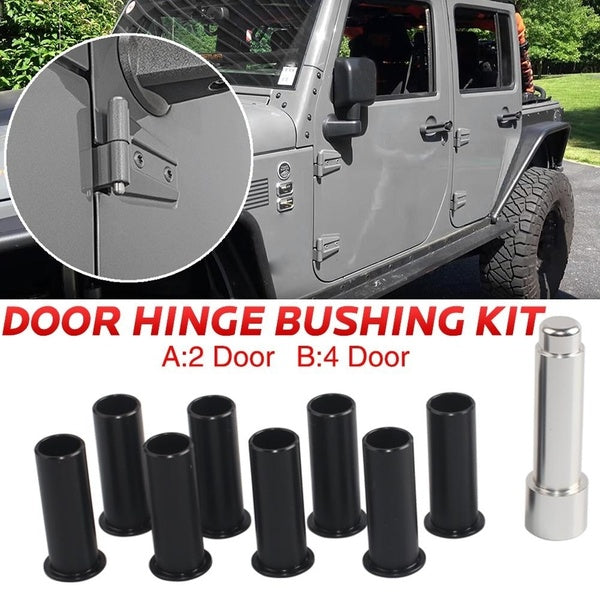 Door Hinge Bushing Pin Liners Delrin for Wrangler JKU 07-18 4/2 Door
