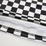 Sexy Checkered Cropped Top Summer Streetwear Sleeveless Checkerboard Tank Tops Tees Shirt Strappy Plaid Streetwear