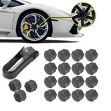 Auto Hub Screw Cover Bolt Rims Exterior Decoration Special Socket Protection 20Pcs Car Wheel Nut Caps Dust 17mm & Removal Tool