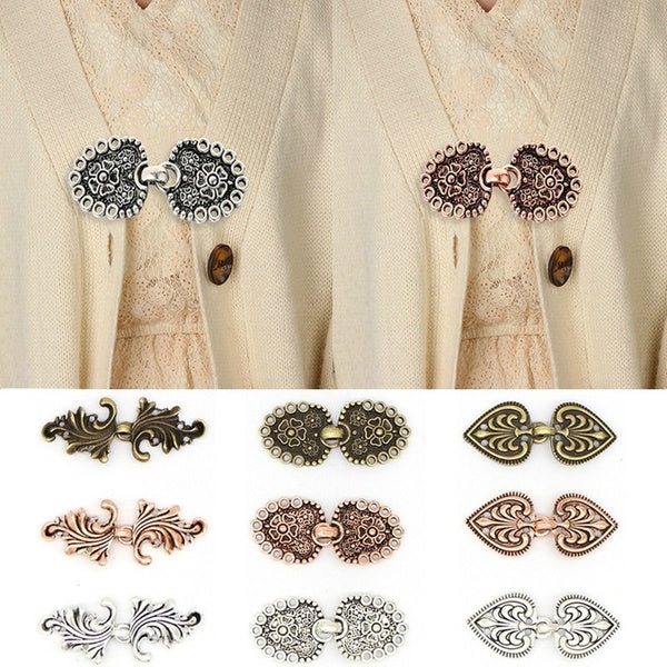 Vintage Cardigan Duck Clip Pin Women Shawl Blouse Collar Sweater Scarf Clasp Charm Accessories Shawl Brooch Clip Clasps Pins