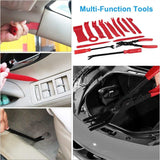 19pcs Auto Car Audio Radio Interior Door Panel DIY Plasti C Demolition Installation Pry Tool Repairing Hand Tools Kit Screwdriver Keys Pliers Remover