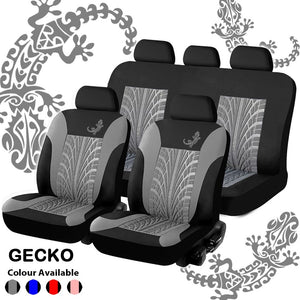 Universal 9pcs Full Set Gecko Car Cover Automobile Interior Accessories Fashion Car Seat Cover