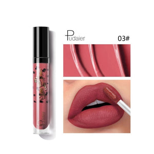 Pudaier 12 Colors Waterproof Lip Glaze Matte Velvet Long Lasting Lip Gloss Do Not Fade Liquid Lipstick Sexy Women Makeup Tools