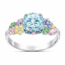 Load image into Gallery viewer, Dazzling Colorful Gemstone 925 Sterling Silver Ring Birthstone Jewelry  Engagement Bride Wedding Ring  Anniversary Gift Size 5-11