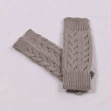 Load image into Gallery viewer, Women Men Gloves Stylish Hand Warmer Winter Gloves  Arm Crochet Knitting Mitten Fingerless Gloves 1Pair