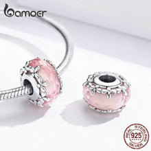 Load image into Gallery viewer, Branded New Pink Series Lovely Sweet Flower Magic Bottle Floret Dancing Butterfly Sterling Silver Pink Zircons Jewelry Diy Bracelet Necklace Charms Pendants