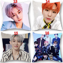 Load image into Gallery viewer, 18 Inches Korean Fashion Popular Idol MONSTA X Pattern Polyester Decorative Pillow Case Single-sided Printing Sofa Car Pillow Cover Home Decorative