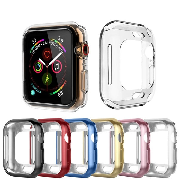 7-color plated TPU case for i watch 4/3/2/1 series 38mm 40mm 42mm 44mm