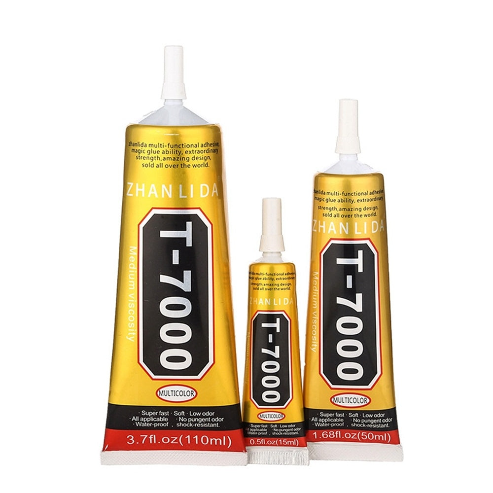 Industrial Jewerly Epoxy Stick Drill Multipurpose Adhesives Super Glue Metal Fabric T7000 Glue Black Liquid