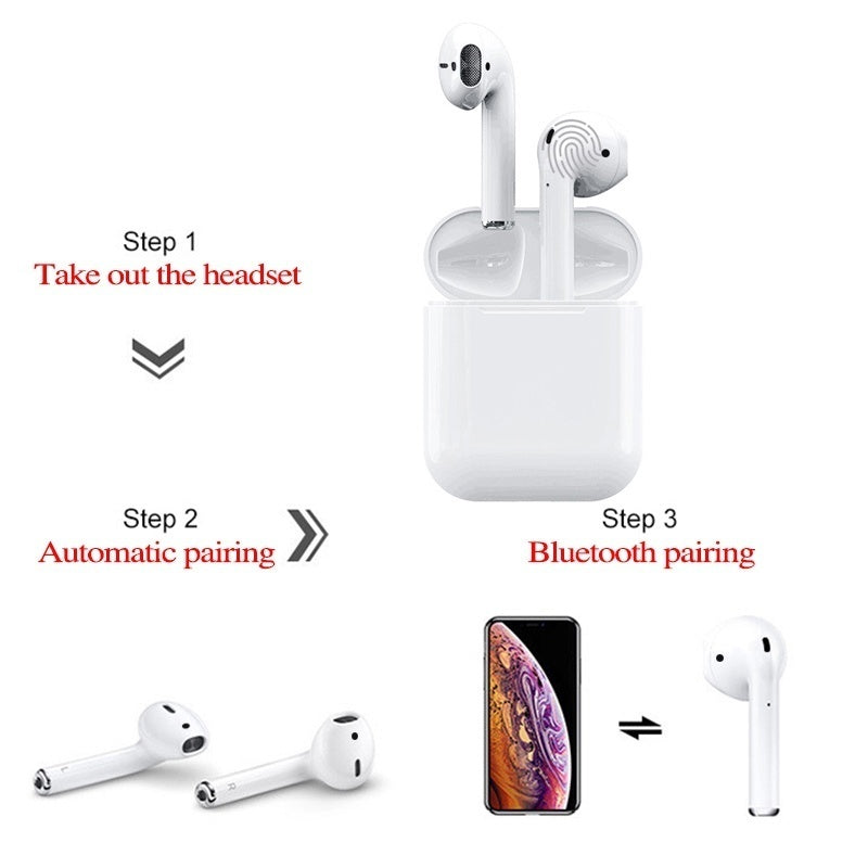 Wireless Mini i12 Tws Bluetooth 5.0 Earphone 1:1 Double Calls Smart Touch Earphones Earbuds Headphone