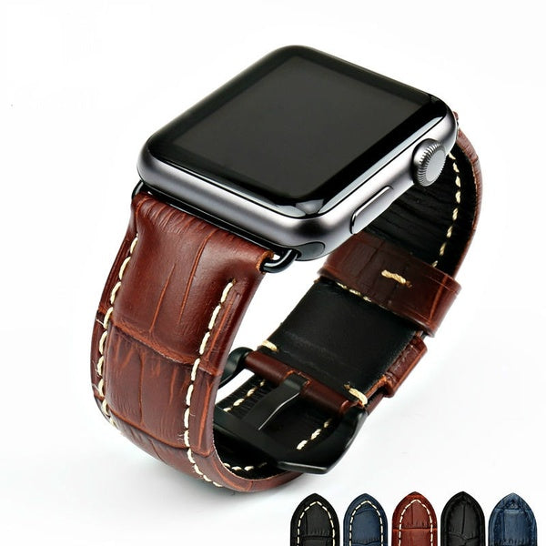 Watchbands Genuine Cow Leather Watch Strap for Apple Watch Band 42mm 38mm Series 4-1 Iwatch 4 44mm 40mm Watch Bracelet
