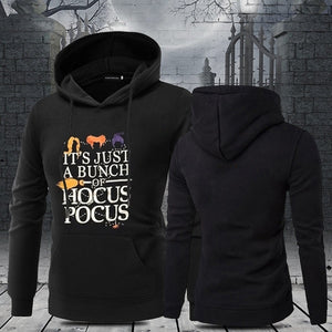 New Autumn And Winter Fashion Women Halloween Casual Hoodie Hocus Pocus Letter Print Hoodied Sweatshirt Hooded Pullover Tops