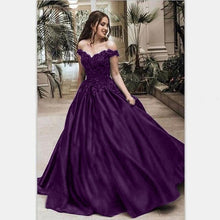 Load image into Gallery viewer, Women's Fashion Off Shoulder Floor Length Wedding Dress Sleeveless Elegant Party Evening Slim Fit Long Dresses Plus Size (S-5XL)