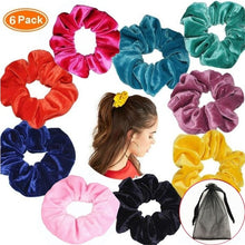 Load image into Gallery viewer, 6/12Pcs Hair Scrunchies Velvet Elastic Hair Bands Scrunchy Hair Ties Ropes Scrunchies for Women or Girls Hair Accessories