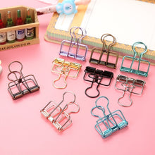 Load image into Gallery viewer, 5pcs/set Cute Kawaii Colorful Metal Paper Clips for Photo Message Ticket File Office School Supplies