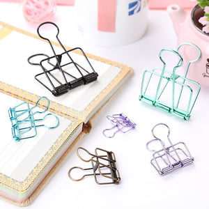 5pcs/set Cute Kawaii Colorful Metal Paper Clips for Photo Message Ticket File Office School Supplies