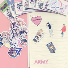 Load image into Gallery viewer, Cute Kpop Bts/Blackpink/Twice/Got7/Seventeen Adhesive Paper Photo Sticker For Mobile Phone Luggage Fridge Cup Diy Stickers