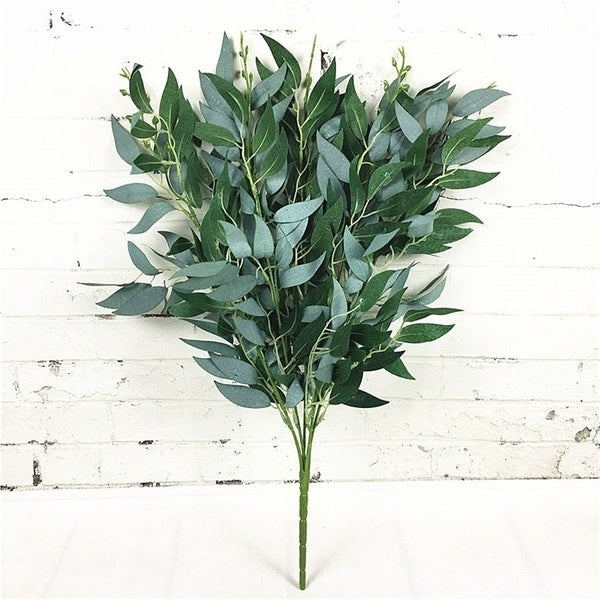 1Pcs Artificial Willow Fake Bouquet for Decoration Wedding Decoration Christmas Party Willow Tree Artificial Leaf Plant