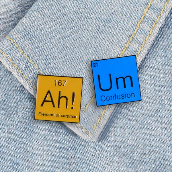 Chemical Element Enamel Pin  Element of surprise  Science Badge Brooch Gift For Science Lover