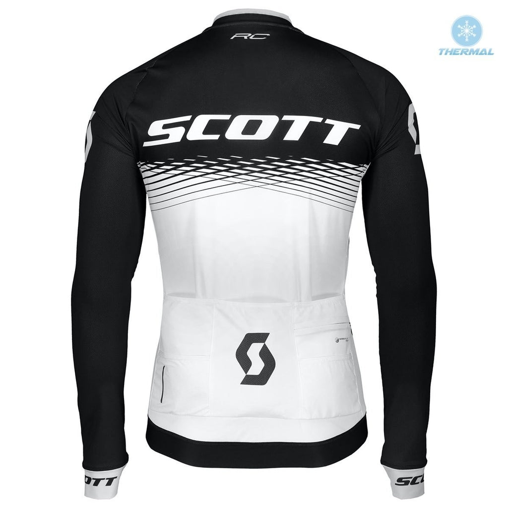 2019 SCOTT Winter Thermal Fleece Bib Cycling Sets Mountain Bicycle Cycling Clothing Suit Anti-UV MTB Bike Cycling Clothes Cycling Jersey